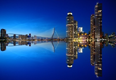 City Yoga Trip Rotterdam - skyline - Mainport Hotel - Taste of Yoga