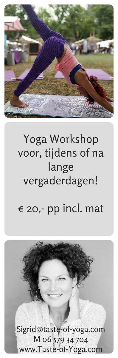 Workshop yoga voor bedrijven - Taste of Yoga Rotterdam