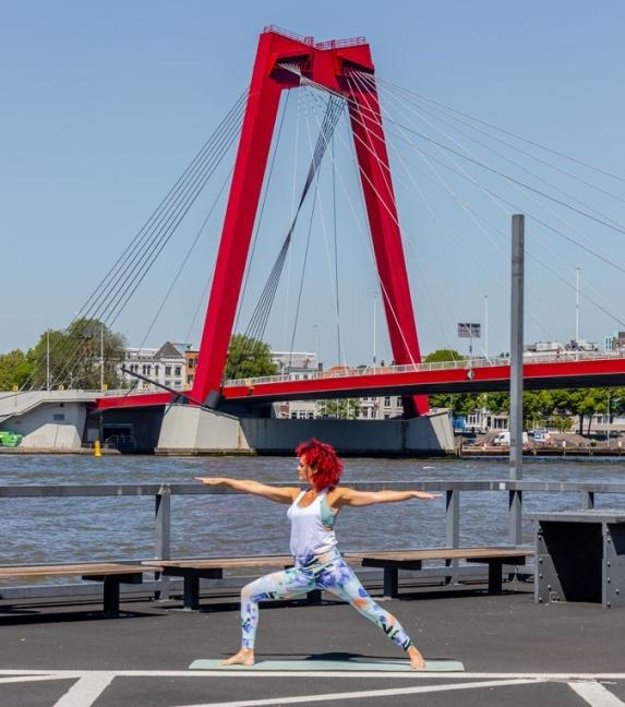 Buitenyoga Taste of Yoga Rotterdam Noordereiland